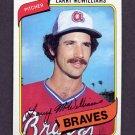 1980 Topps Baseball #309 Larry McWilliams - Atlanta Braves