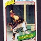 1980 Topps Baseball #305 Randy Jones - San Diego Padres Vg