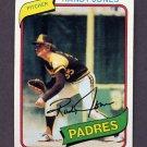 1980 Topps Baseball #305 Randy Jones - San Diego Padres Ex