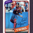 1980 Topps Baseball #304 Butch Wynegar - Minnesota Twins