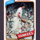 1980 Topps Baseball #300 Ron Guidry - New York Yankees
