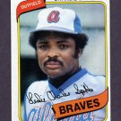1980 Topps Baseball #294 Charlie Spikes - Atlanta Braves
