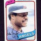 1980 Topps Baseball #285 Don Baylor - California Angels Vg