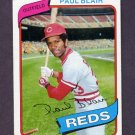 1980 Topps Baseball #281 Paul Blair - Cincinnati Reds