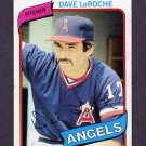 1980 Topps Baseball #263 Dave LaRoche - California Angels