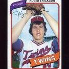 1980 Topps Baseball #256 Roger Erickson - Minnesota Twins Ex