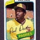 1980 Topps Baseball #254 Paul Dade - San Diego Padres NM-M