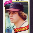 1980 Topps Baseball #252 Ted Cox - Cleveland Indians
