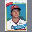 1980 Topps Baseball #234 Vern Ruhle - Houston Astros