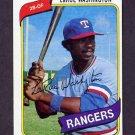 1980 Topps Baseball #233 LaRue Washington RC - Texas Rangers NM-M