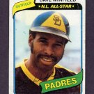 1980 Topps Baseball #230 Dave Winfield - San Diego Padres G