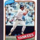 1980 Topps Baseball #225 Lou Piniella - New York Yankees
