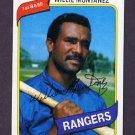 1980 Topps Baseball #224 Willie Montanez - Texas Rangers