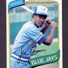 1980 Topps Baseball #221 Joe Cannon RC - Toronto Blue Jays NM-M