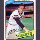 1980 Topps Baseball #217 Ed Halicki - San Francisco Giants