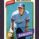 1980 Topps Baseball #213 Mike Jorgensen - Texas Rangers