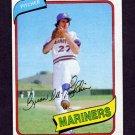 1980 Topps Baseball #197 Byron McLaughlin - Seattle Mariners