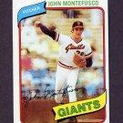 1980 Topps Baseball #195 John Montefusco - San Francisco Giants