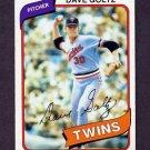 1980 Topps Baseball #193 Dave Goltz - Minnesota Twins