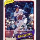 1980 Topps Baseball #181 Moose Haas - Milwaukee Brewers