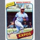 1980 Topps Baseball #180 Warren Cromartie - Montreal Expos ExMt