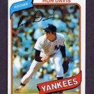 1980 Topps Baseball #179 Ron Davis RC - New York Yankees