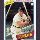 1980 Topps Baseball #176 Champ Summers - Detroit Tigers ExMt
