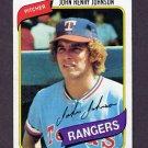 1980 Topps Baseball #173 John Henry Johnson - Texas Rangers