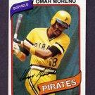 1980 Topps Baseball #165 Omar Moreno - Pittsburgh Pirates NM-M