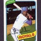 1980 Topps Baseball #157 Willie Wilson - Kansas City Royals Vg