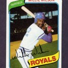 1980 Topps Baseball #157 Willie Wilson - Kansas City Royals Ex