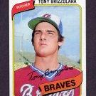 1980 Topps Baseball #156 Tony Brizzolara RC - Atlanta Braves