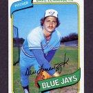 1980 Topps Baseball #124 Dave Lemanczyk - Toronto Blue Jays