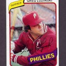 1980 Topps Baseball #120 Greg Luzinski - Philadelphia Phillies NM-M