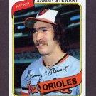 1980 Topps Baseball #119 Sammy Stewart - Baltimore Orioles