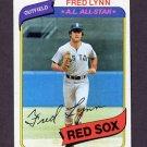 1980 Topps Baseball #110 Fred Lynn - Boston Red Sox ExMt