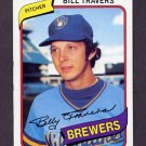 1980 Topps Baseball #109 Bill Travers - Milwaukee Brewers