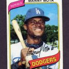 1980 Topps Baseball #104 Manny Mota - Los Angeles Dodgers G