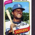 1980 Topps Baseball #104 Manny Mota - Los Angeles Dodgers ExMt