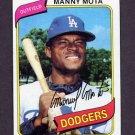 1980 Topps Baseball #104 Manny Mota - Los Angeles Dodgers NM-M