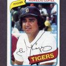 1980 Topps Baseball #101 Aurelio Lopez - Detroit Tigers