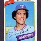 1980 Topps Baseball #093 Dave Roberts - Texas Rangers