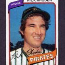 1980 Topps Baseball #092 Rick Rhoden - Pittsburgh Pirates ExMt