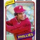 1980 Topps Baseball #090 Manny Trillo - Philadelphia Phillies