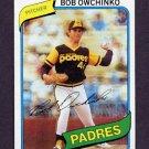 1980 Topps Baseball #079 Bob Owchinko - San Diego Padres