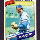 1980 Topps Baseball #067 Doyle Alexander - Texas Rangers