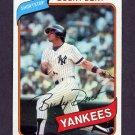 1980 Topps Baseball #060 Bucky Dent - New York Yankees VgEx