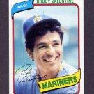 1980 Topps Baseball #056 Bobby Valentine - Seattle Mariners