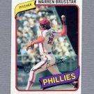 1980 Topps Baseball #052 Warren Brusstar - Philadelphia Phillies ExMt