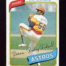 1980 Topps Baseball #050 J.R. Richard - Houston Astros G